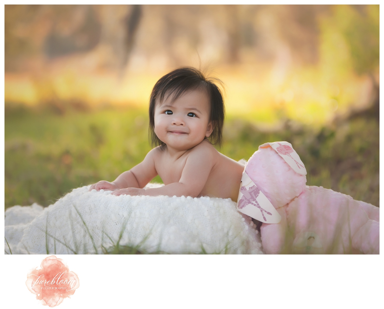 Madison 6mth session | Tampa Child Photographer | Pure Bloom Photography