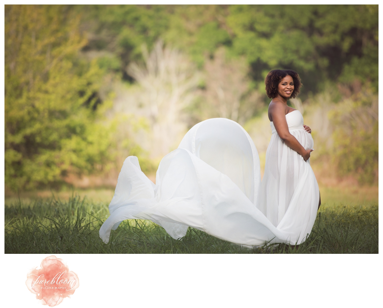 Tampa Artistic Maternity Photographer | Pure Bloom Photography | Ayesha & Nathan