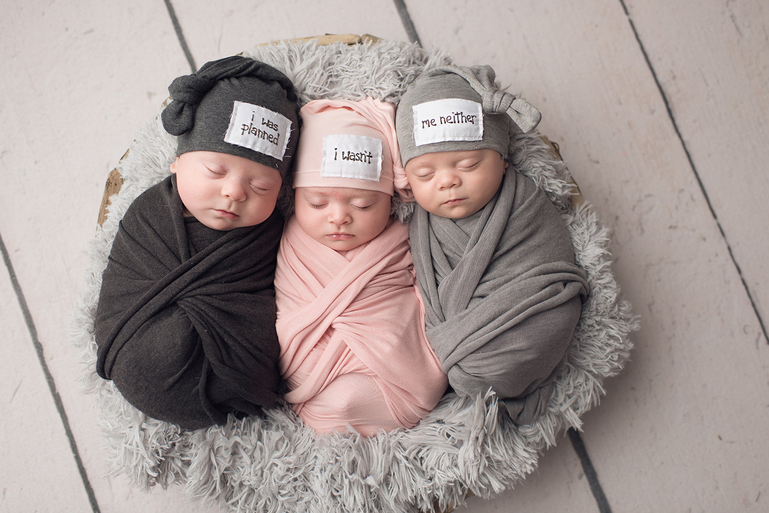 Triplets-tampa newborn photography-purebloom photography
